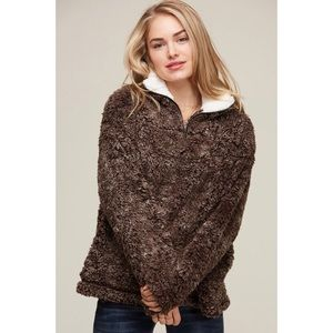 Sherpa Pullover-Brown